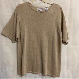 ⚡️2 for $20⚡️Gold short sleeved knit top